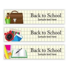 School banners vector