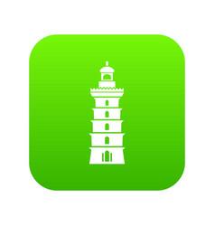 Searchlight icon green vector