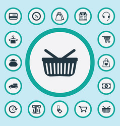 Set simple purchase icons vector