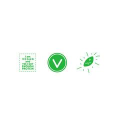 set various signs on vegan theme i am vegan vector image