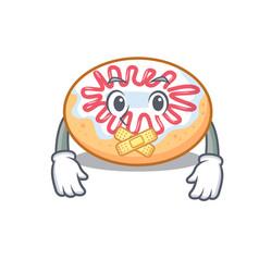 Silent jelly donut mascot cartoon vector