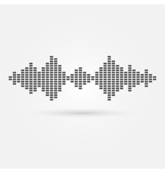 Soundwave music icon vector