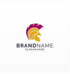 Spartan knight logo design vector