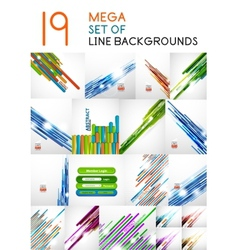 Straight line backgrounds design collection vector