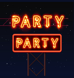 Street sign that says party vector