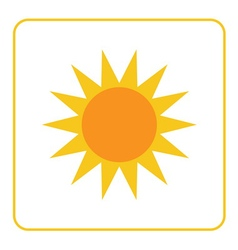 Sun icon Light sign yellow design vector