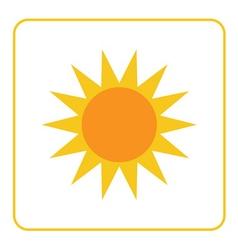 Sun icon Light sign yellow design vector image