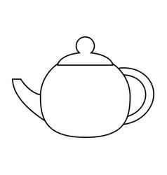 teapot beverage ceramic outline vector image