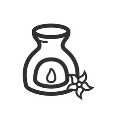 Thin line aromatherapy icon vector