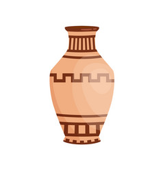 traditional colorful greek vase decorated vector image