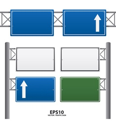 traffic sign blue color vector image