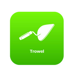 trowel icon green vector image