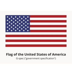 Usa flag or american flag in correct proportion vector