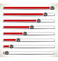 vertical sliders adjusters or loading bars ui gui vector image