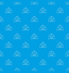 wedding car pattern seamless blue vector image