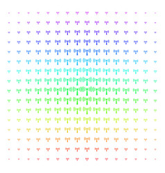 wi-fi station icon halftone spectrum grid vector image