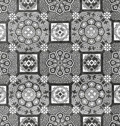 31 Abstract floral mosaic tile vintage vector image