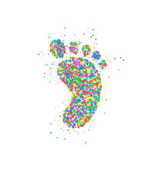 foot icon circles vector image