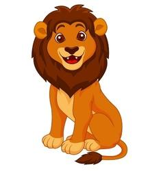 Funny lion cartoon vector image