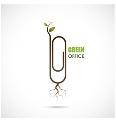Green office design vector image