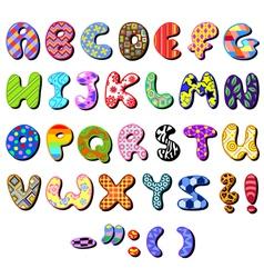 patterned alphabet vector image