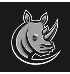 Rhino sport logo Logotype template for mascot vector image