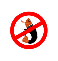 stop office plankton prohibited shrimp in suit vector image vector image