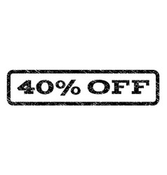 40 percent off watermark stamp vector image vector image
