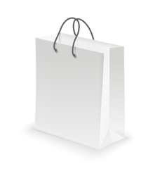 Empty Shopping Bag white vector image vector image
