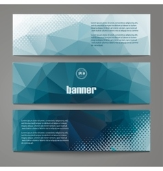 A set of modern banners with polygonal vector image