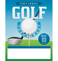 Golf Tournament Flyer Template Royalty Free Vector Image - Golf brochure template