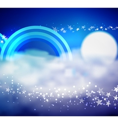 In the Clouds vector image vector image