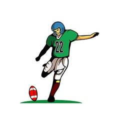 Kick Ball Pose vector image vector image