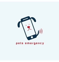 pets emergency concept flat design vector image vector image