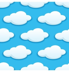 Seamless pattern of white fluffy clouds vector image vector image
