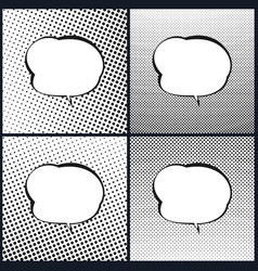 set of speech bubble pop art vector image vector image