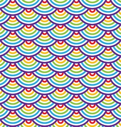 Abstract geometric seamless pattern Colorful scaly vector image vector image