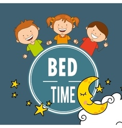 bed time vector image