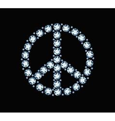 Diamond peace symbol vector