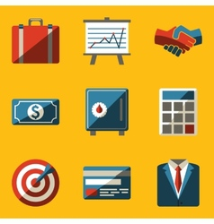 Flat icon set Business vector image vector image