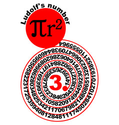 mathematical theme with ludolfs number decimal vector image