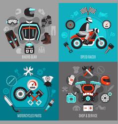 motorcycle 2x2 design concept vector image vector image