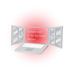 Open laptop vector image