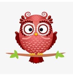 owl brown vector image vector image