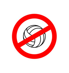 Stop volleyball prohibited team game red vector