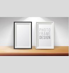 vertical frame mock up good for display vector image vector image
