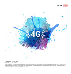 4g icon - watercolor background vector