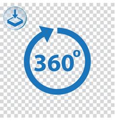 Angle 360 degrees icon vector