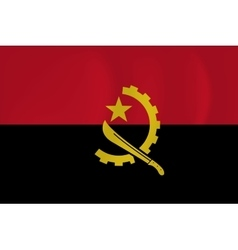 Angola waving flag vector image