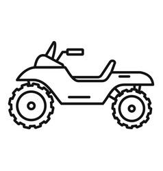 atv quad bike icon outline style vector image